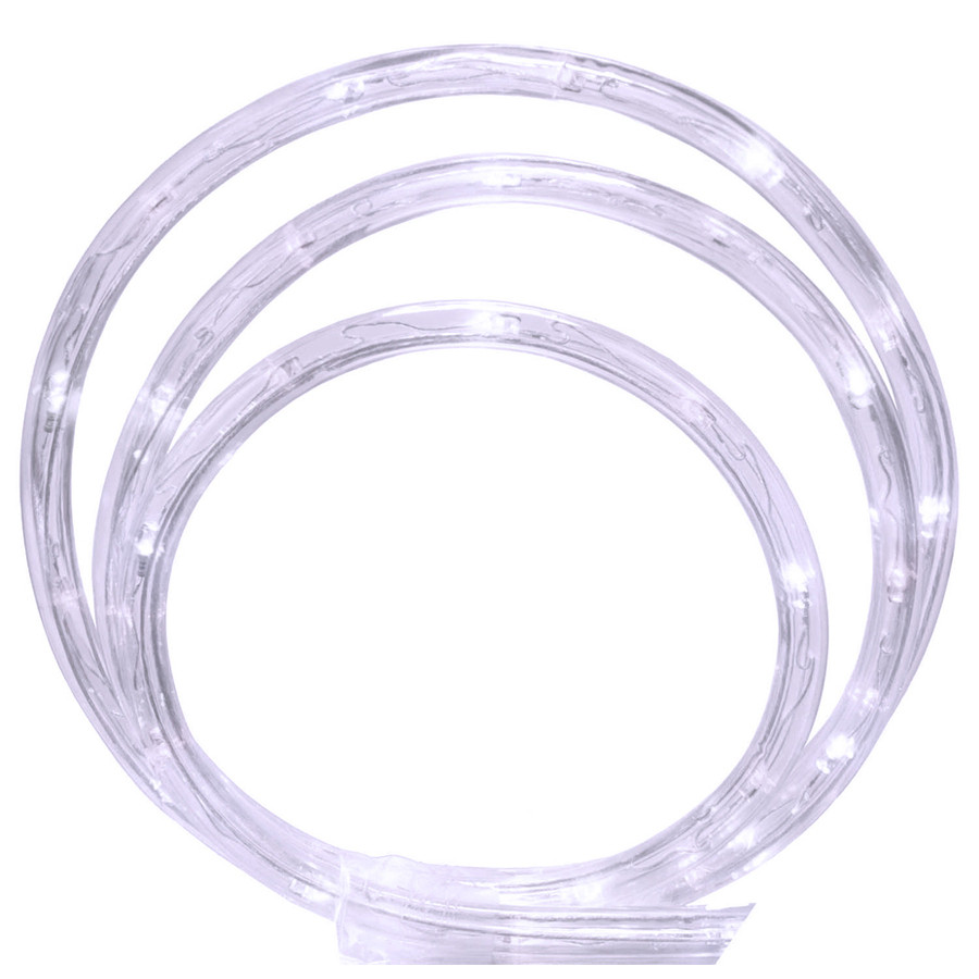 108-Count 18-ft Constant White LED Plug-In Christmas Rope Lights with Clear Tubing