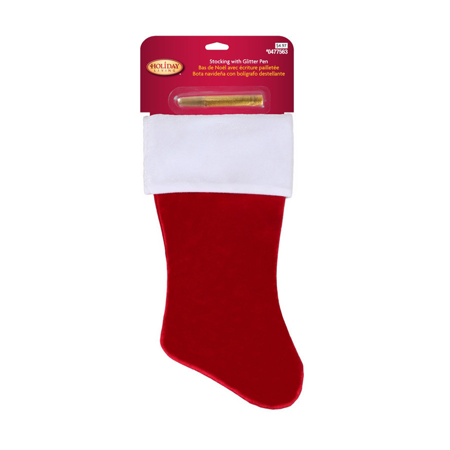 18-in Red Traditional Christmas Stocking