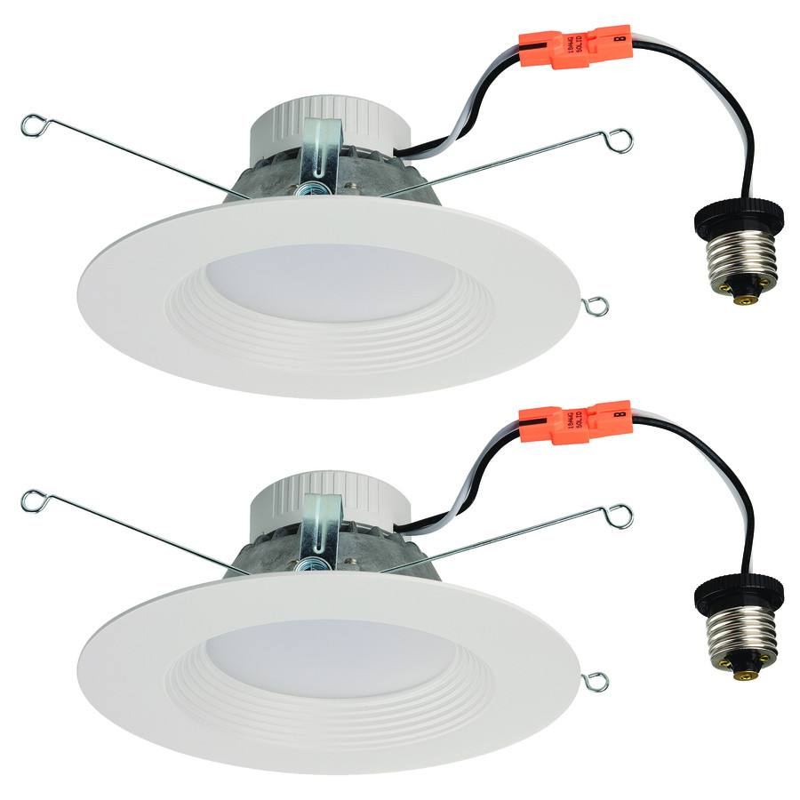 2-Pack 65-Watt Equivalent White LED Recessed Retrofit Downlights (Fits Housing Diameter: 5-in or 6-in)
