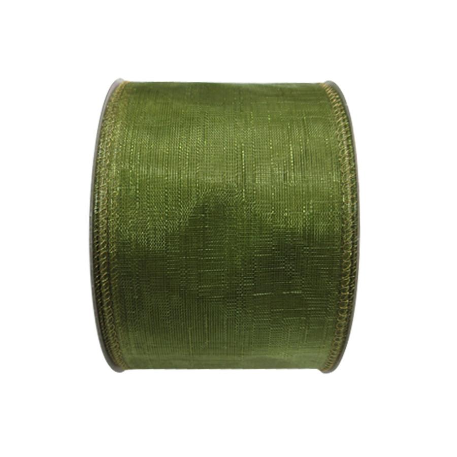 2.5-in W x 30-ft L Green Sheer Ribbon