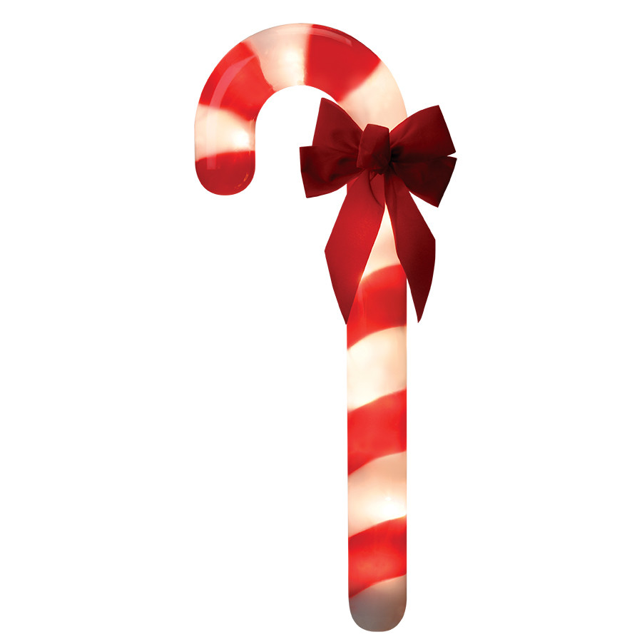 3-Marker White Incandescent Plug-in Candy Cane Christmas Pathway Markers