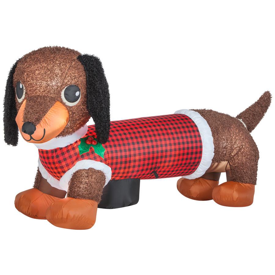 3.83-ft x 2.46-ft Animatronic Lighted Dog Christmas Inflatable