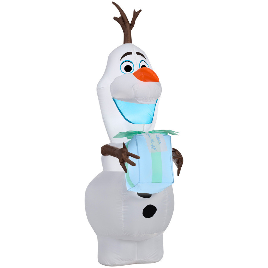 4-ft x 2.06-ft Lighted Olaf Christmas Inflatable