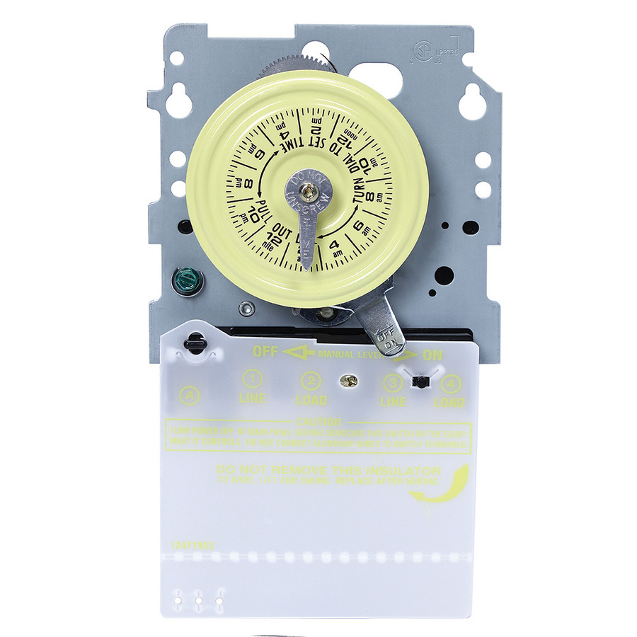40-Amp Mechanical Residential Hardwired Lighting Timer