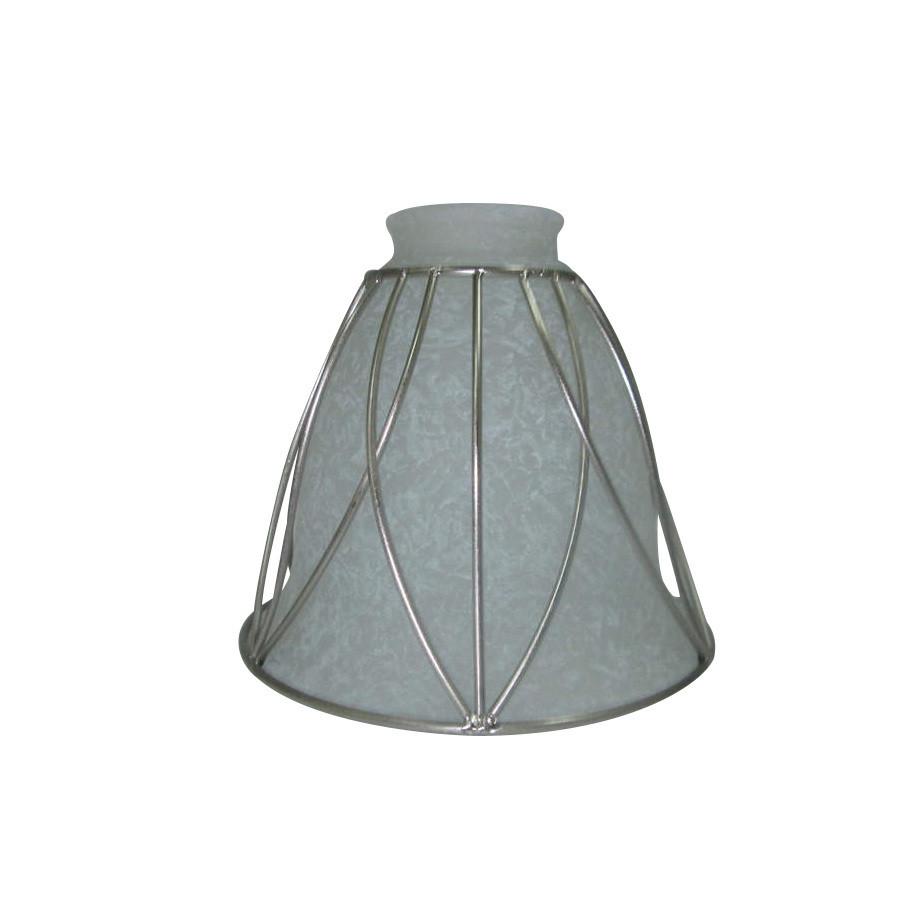 5.125-in H 6-in W Brushed Nickel Rustic Bell Vanity Light Shade