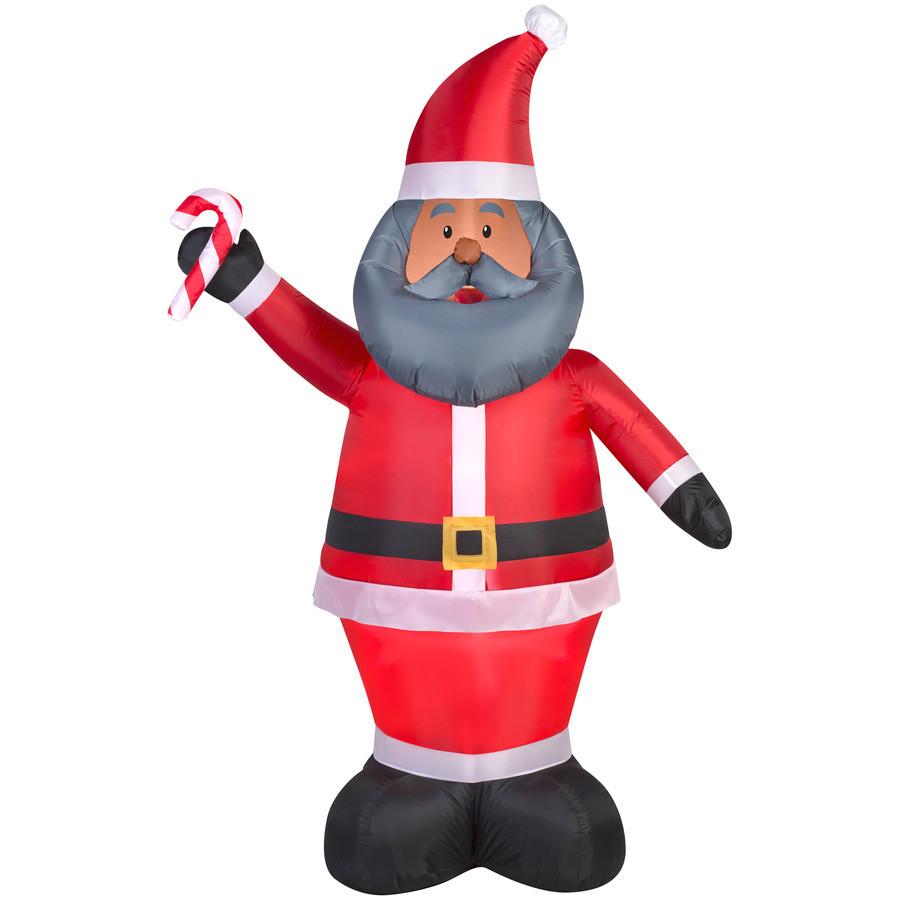 6.98-ft x 2.29-ft Lighted Santa Christmas Inflatable