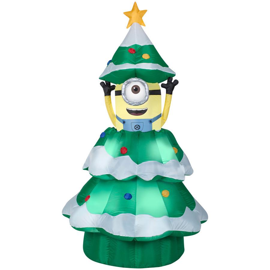 6.98-ft x 3.77-ft Animatronic Lighted Minion Christmas Inflatable