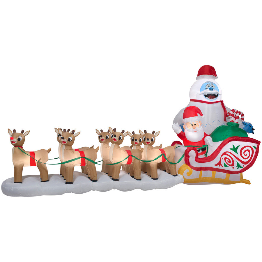 7.34-ft x 5.74-ft Lighted Bumble Christmas Inflatable