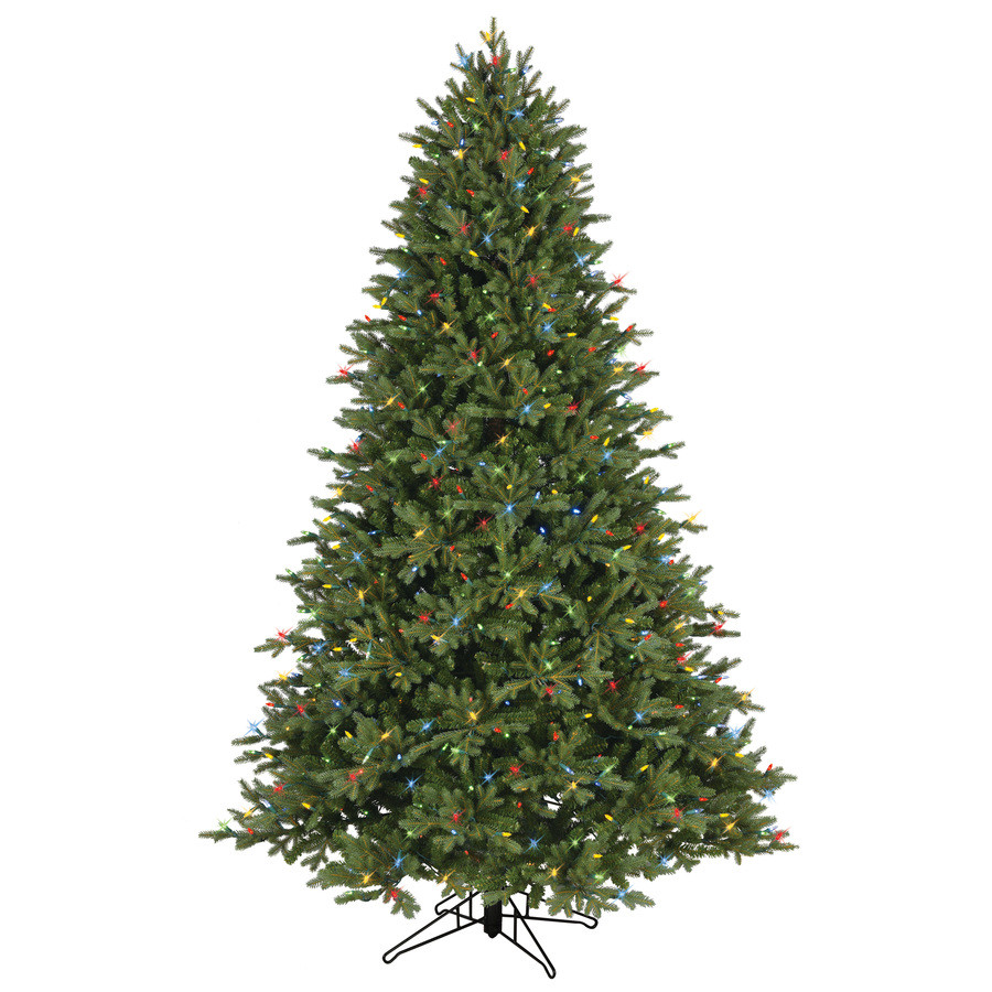 7.5-ft Pre-Lit Aspen Fir Full Artificial Christmas Tree with Color Changing Warm White LED Lights