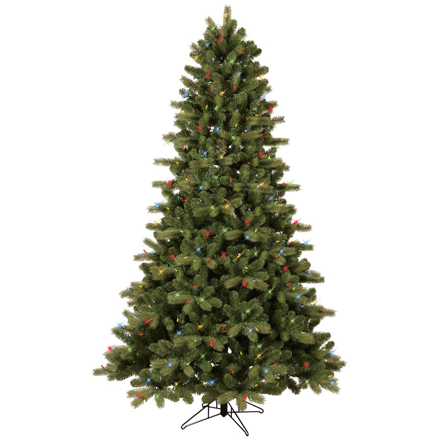 7.5-ft Pre-Lit Colorado Spruce Full Artificial Christmas Tree with Color Changing Warm White LED Lights