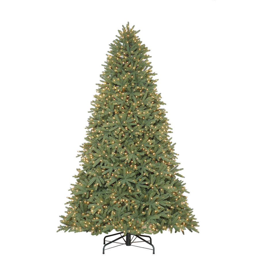 9-ft Pre-Lit Mckinney Fir Artificial Christmas Tree with White Clear Incandescent Lights