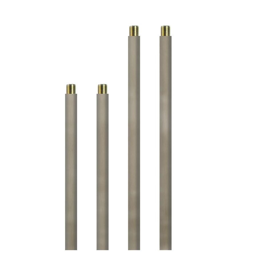 Brushed Nickel Downrod Pendant Stem Light Kit