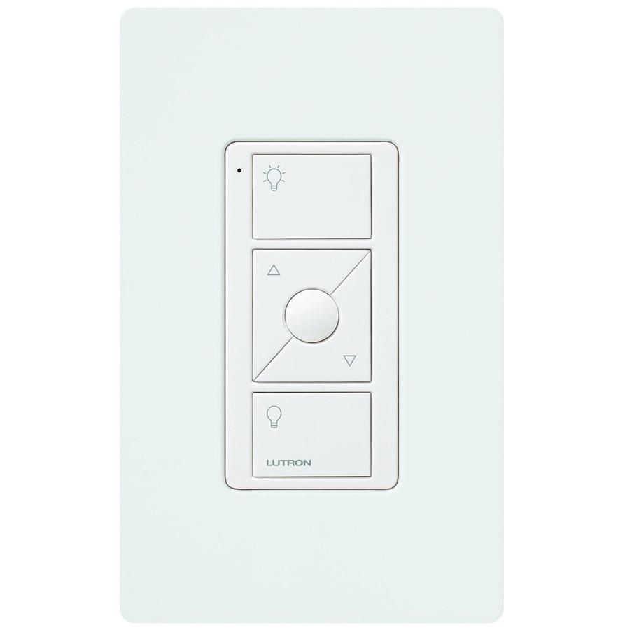 Caseta 1-Switch Double Pole 3-Way/4-Way Wireless White Indoor Remote Control Light Switch