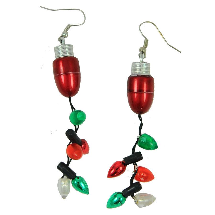 Lighted Christmas Earrings