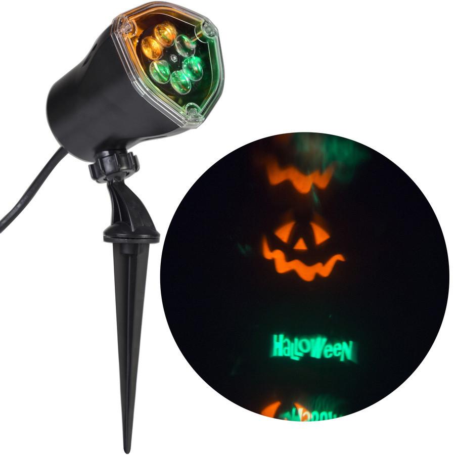 Lightshow Multi-Function Green, Orange LED Happy Halloween Spotlight Projector
