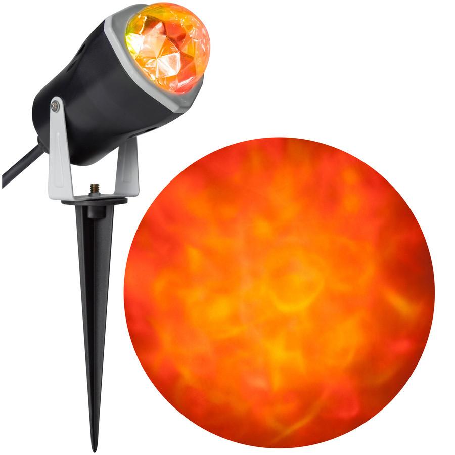 Lightshow Multi-Function Red, Yellow LED Kaleidoscope Halloween Spotlight Projector