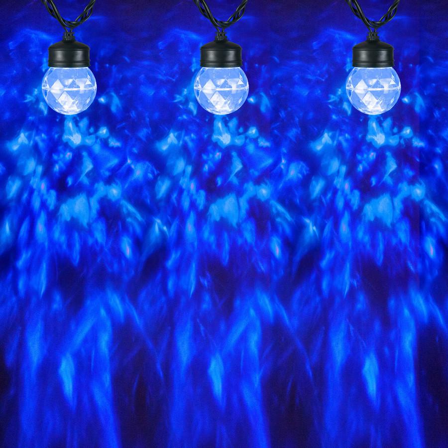 LightShow Swirling Blue LED Kaleidoscope Christmas Spotlight Projector