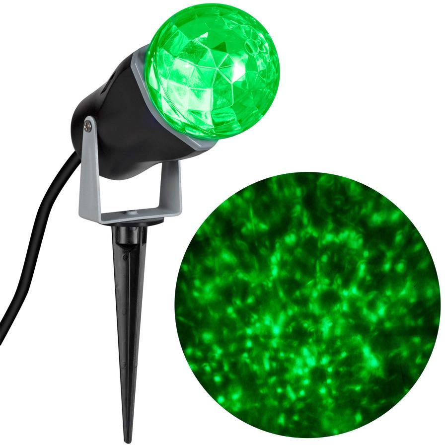 LightShow Swirling Green LED Kaleidoscope Christmas Spotlight Projector