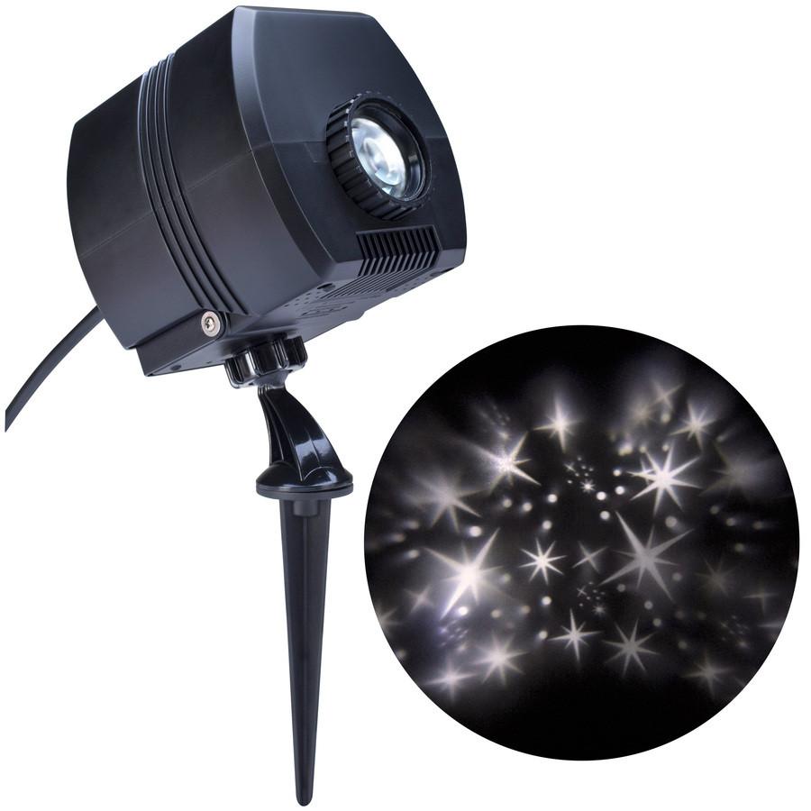 LightShow Swirling White LED Fairy Dust Christmas Spotlight Projector