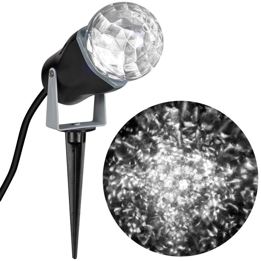 LightShow Swirling White LED Kaleidoscope Christmas Spotlight Projector