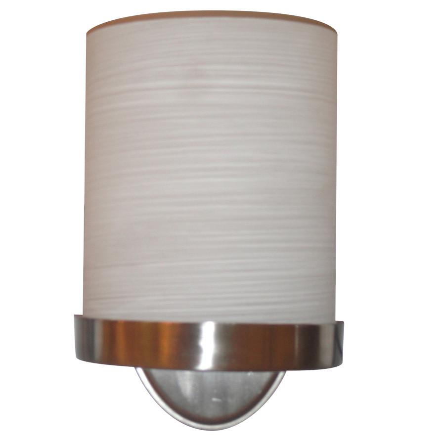 Merington 6.5-in W 1-Light Brushed Nickel Pocket Hardwired Wall Sconce