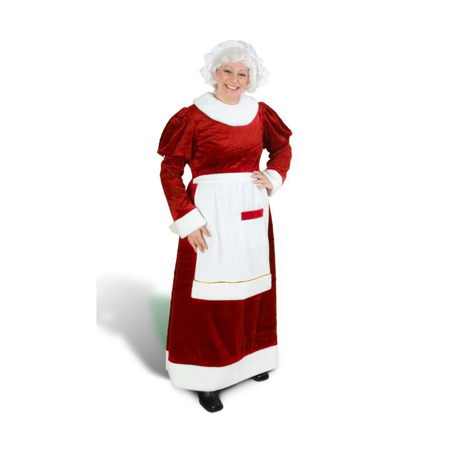 M/L Red Polyester Mrs. Claus Suit