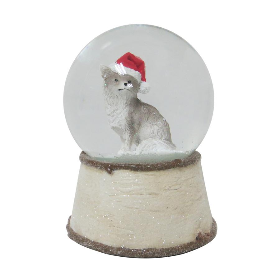 Musical Fox Snow Globe