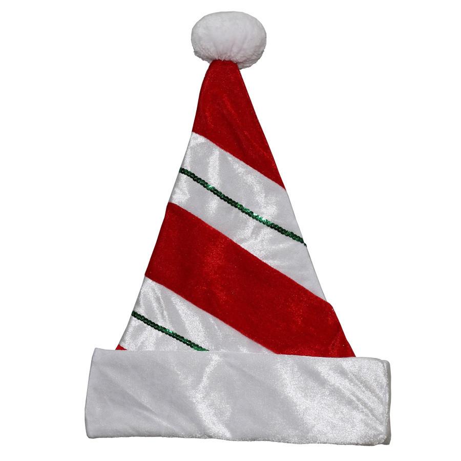 One Size Fits All Velvet Traditional Santa Hat