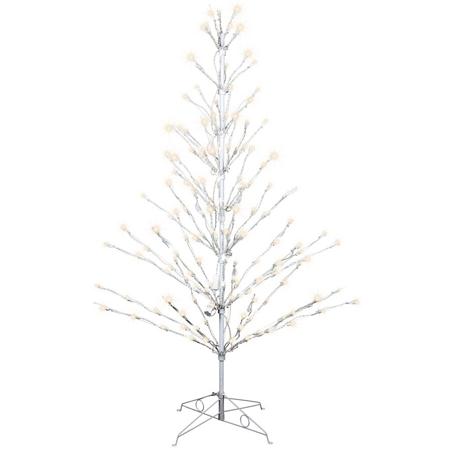 Pre-Lit Tree Sculpture with Multi-Function White LED Lights