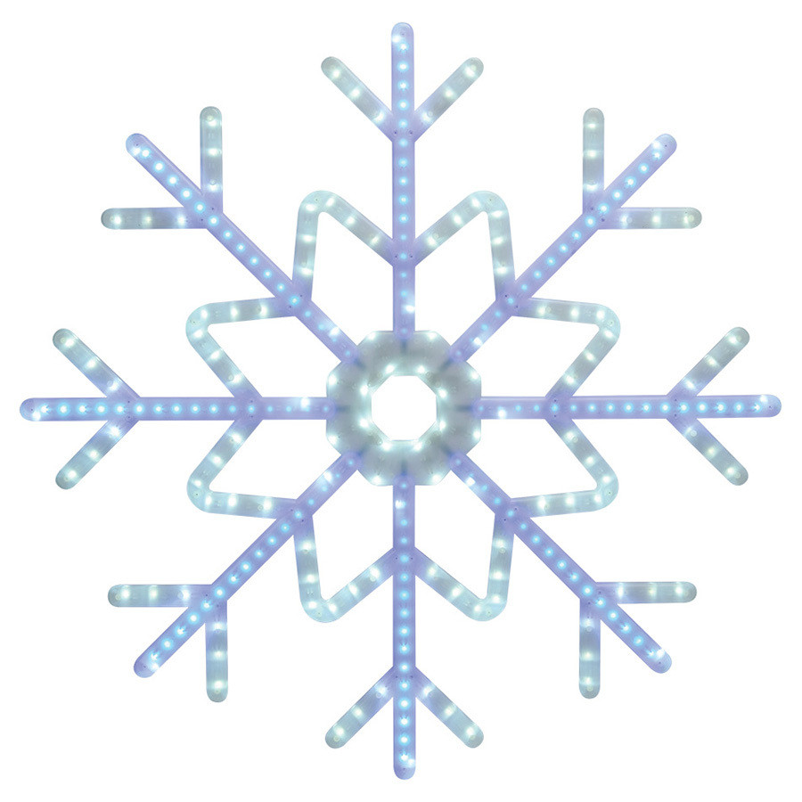 Staybright Pre-Lit Snowflake Light Display with Constant White LED Lights