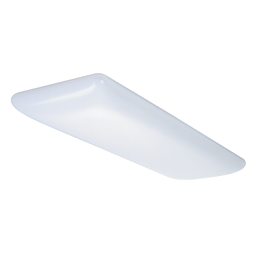 Tuff'R'Puff White Flush Mount Fluorescent Light (Common: 4-ft; Actual: 51.5-in)