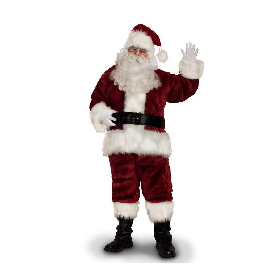 X-Large Burgundy Polyester Santa Claus Suit