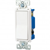 1-Switch 15-Amp Single Pole 4-Way White Indoor Rocker Light Switch