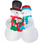 10-ft x 4.59-ft Lighted Snowman Christmas Inflatable