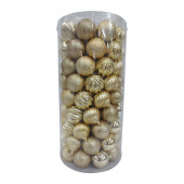 101-Pack Gold Ball Ornament Set