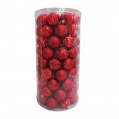 101-Pack Red Ball Ornament Set