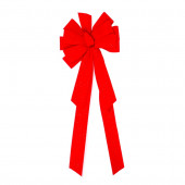 11-in W Red Solid Bow