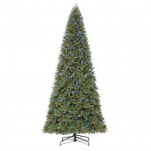 12-ft Pre-Lit Douglas Fir Artificial Christmas Tree with Color Changing LED Lights