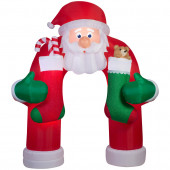 12-ft x 4.92-ft Animatronic Lighted Archway Christmas Inflatable