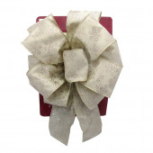 13-in W Off-White Snowflake Bow