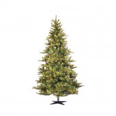 14-ft Pre-Lit Artificial Mixed Country Pine Christmas Tree with Clear White Incandescent Lights