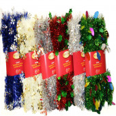 1.5-in x 12-ft Tinsel Artificial Christmas Garland