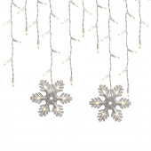 150-Count Constant White Mini Incandescent Plug-in Christmas Icicle Lights
