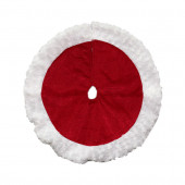 18-in Red Polyester Traditional Christmas Tree Skirt