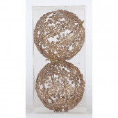 2-Pack Antique Gold Snowflake Ornament Set