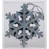 2-Pack Blue Snowflake Ornament Set
