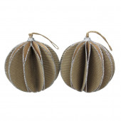 2-Pack Brown Ball Ornament Set