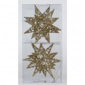 2-Pack Gold Star Ornament