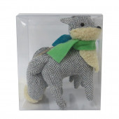 2-Pack Gray, Green, Blue, Cream Fox Ornament Set