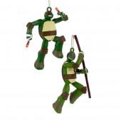 2-Pack Painted Teenage Mutant Ninja Turtles Ornament Set